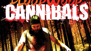 Close up of Bloodwood Cannibals DVD cover