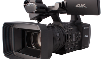Photo of the Sony FDR-AX1 4K camcorder