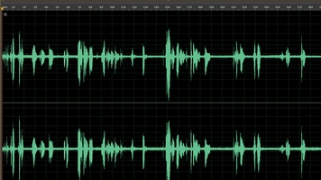 Screen grab of Adobe Audition with messy interface.