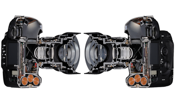 Cross section of a Nikon camera