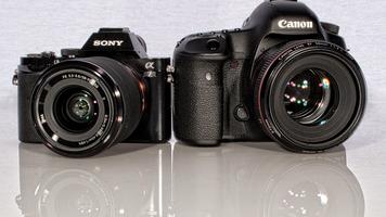 Photo Of a Sony ALPHA 7 camera and a Canon 5D MarkIII