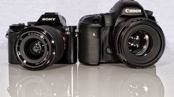 Photo Of a Sony ALPHA 7 camera and a Canon 5D MarkIII