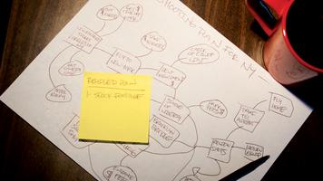 Photo of a handwritten shooting plan.