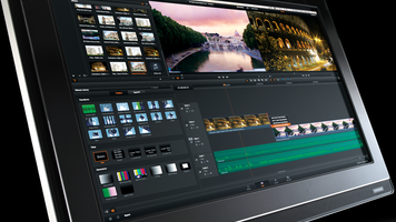 Photo showing the edit set up for the RAW workflow