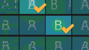 Illustration consisting of transition icons; two of them have checkmarks and the rest are greyed out.