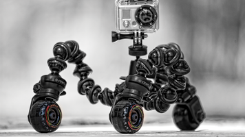 GoPro Hero on Cinetics mini skates