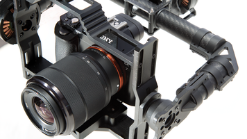 CAME-TV 7800 Gimbal showing camera mount