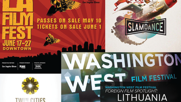 Collage of film festival poster