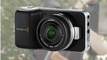 Blackmagic Pocket Cinema Camera over a screen capture of John Brawley's test footage.