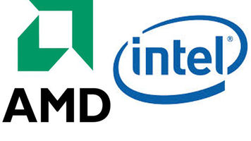 Logos on Intel and AMD