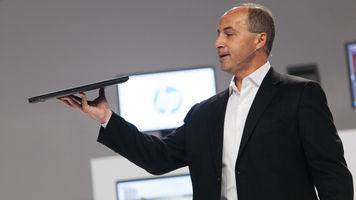 Jim Zafarana holds up the ZBook 14 Ultrabook