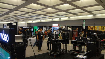 Wide shot of the trade show at DV Expo