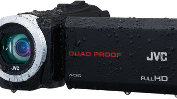wet camcorder with LCD screen open