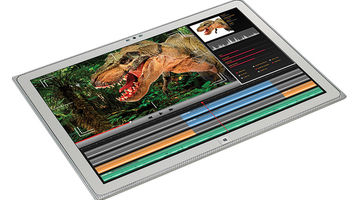 image of dinosaur on tablet