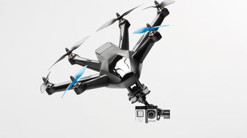 Hexacopter flying with a camera