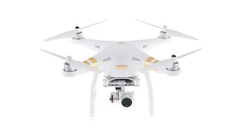 white and gold drone with camera