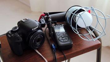Image of inexpensive setup for film shooting