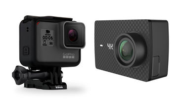 The GoPro Hero6 Black and the Yi 4K+ 60fps Action Camera