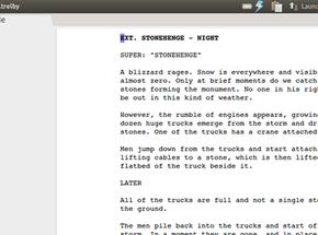 Trelby screenwriting softwar