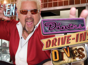 "Guy Fieri of ""Diners, Drive-ins and Dives"""