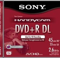 Canon HDV Camcorders   Sony 8cm DVD+R dual-layer media