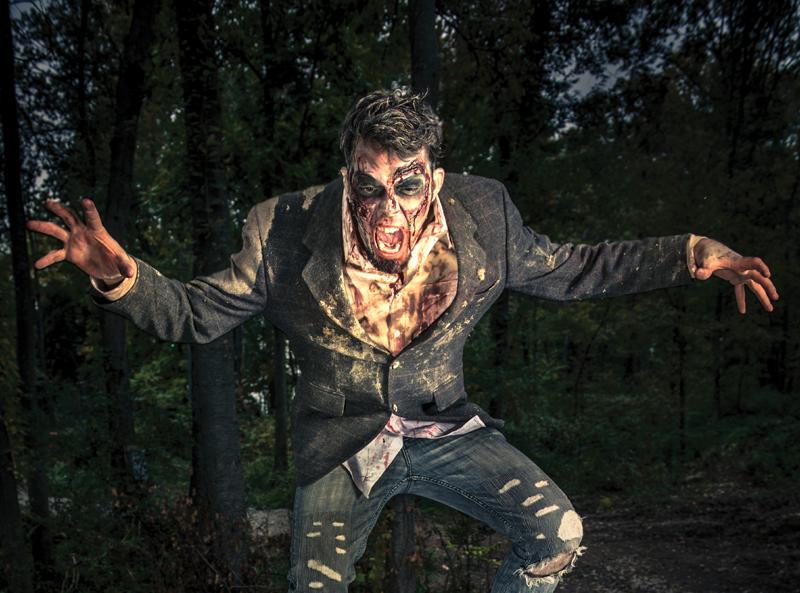 Photo of a creepy zombie