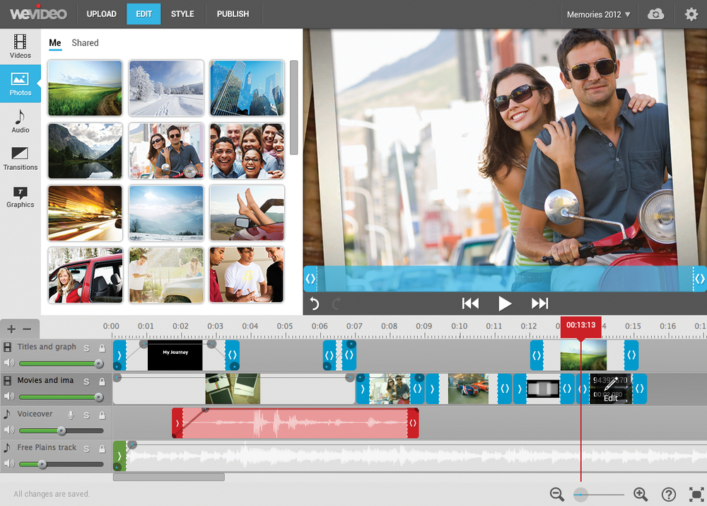 Wevideo Internet Editing Software