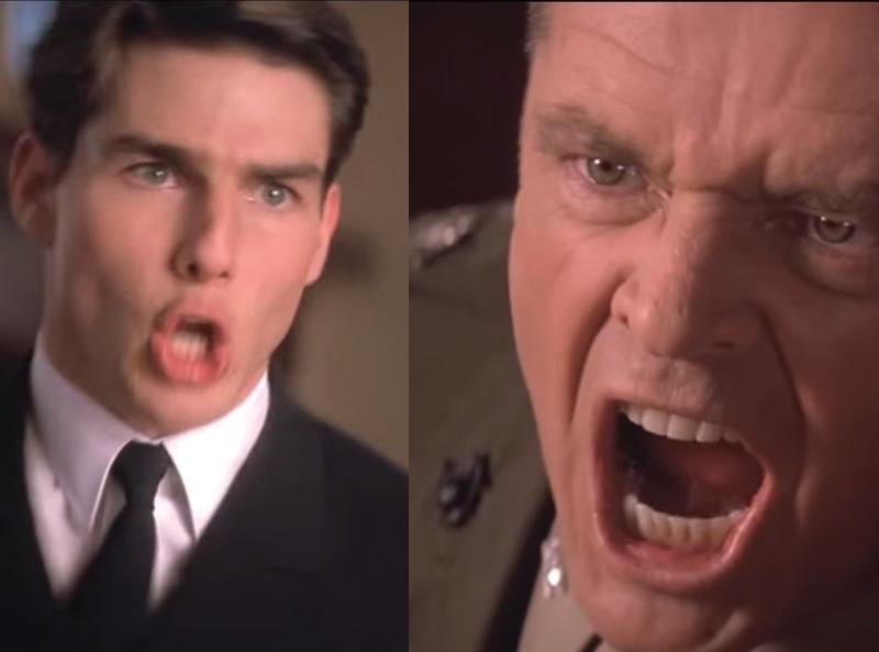 "Screen grabs from the last scene of ""A Few Good Men""."
