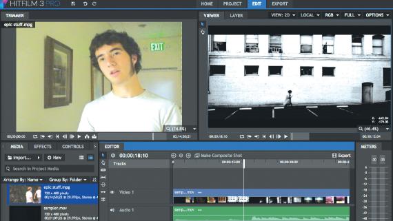 Screen grab of HitFilm 3 Pro