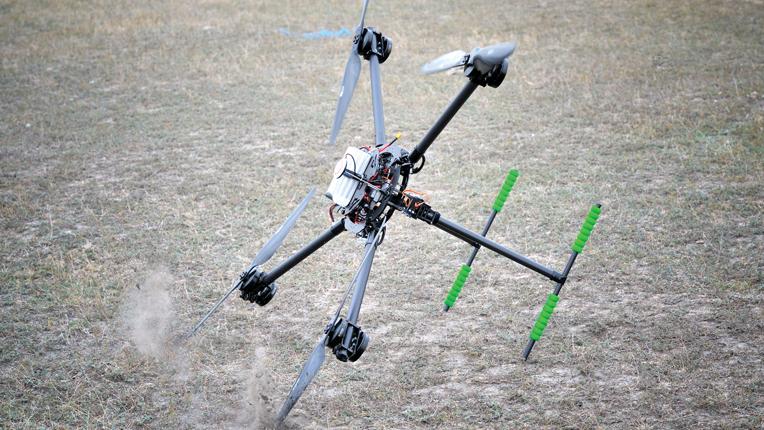 Drone crashing
