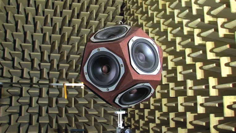 Sound dampening panels with 360 speakers