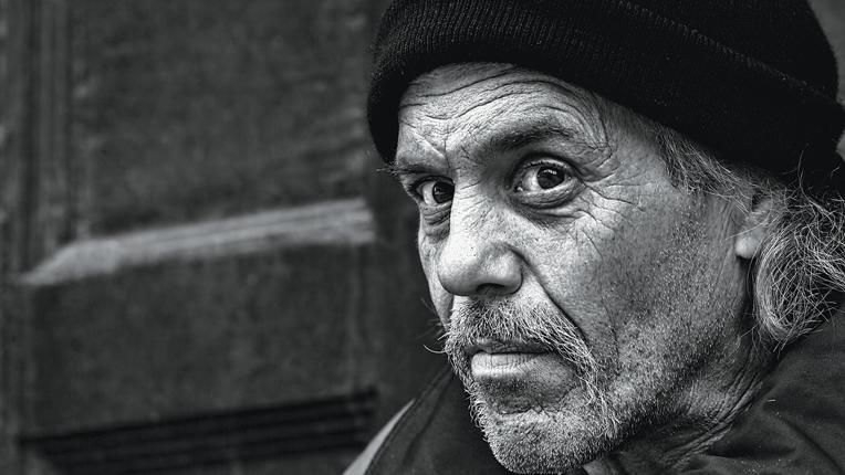 Image of homeless man