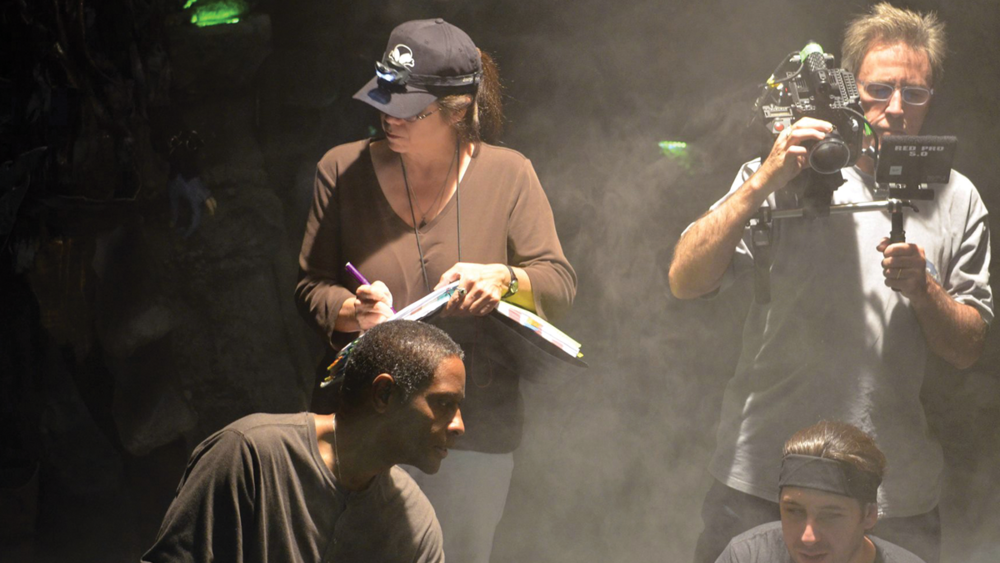 Andra.Hayes.On the set of Star Trek Renegades with Director Tim Russ - Photo courtesy Star Trek: Renegade