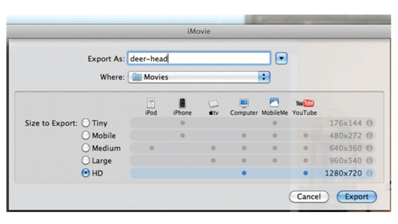 When compressing for export, keep your video as high a quality as possible. Export video at a smaller size in order to reach a certain platform, e.g. iPhone.