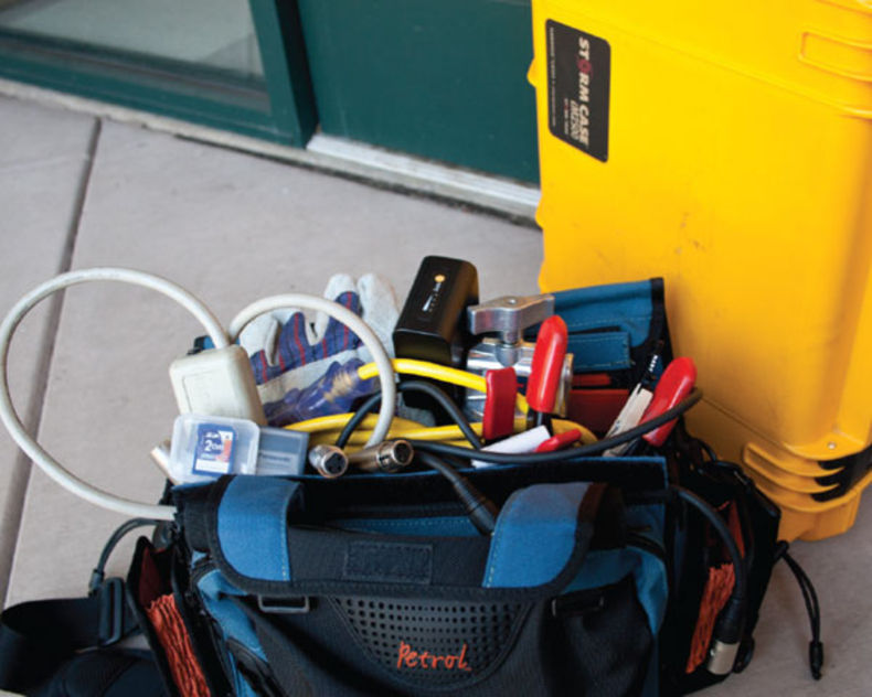 Spare gear is a great idea to bring in a go-to bag. The curious thing is that these may be the least costly but most essential pieces of equipment. Just be sure to pack it better than pictured.