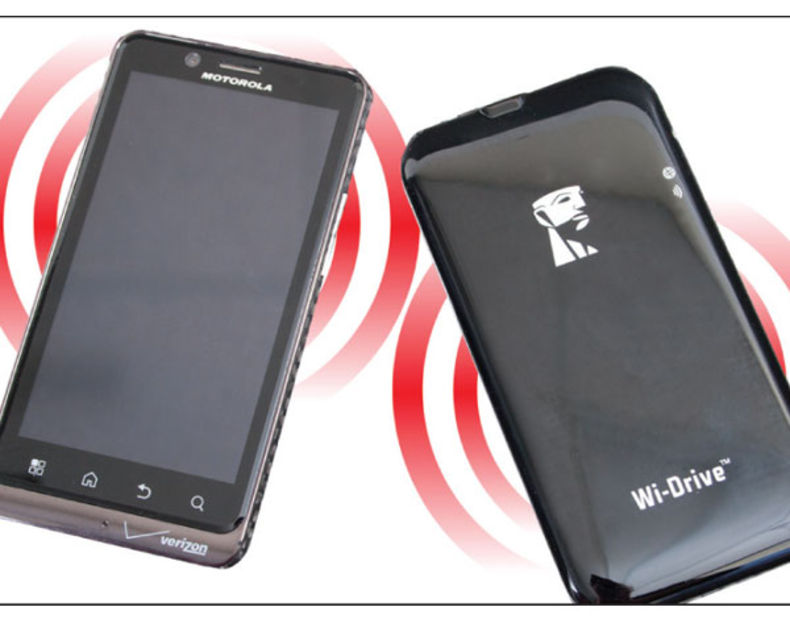 It's not an evil twin, but rather a great companion for sharing video, the Wi-Drive preserves your smartphone's memory and data space and lets you watch video. Similar to how a RAID can speed up editing.