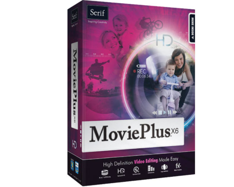 Serif-Movieplus-x6 Introductory Editing Software