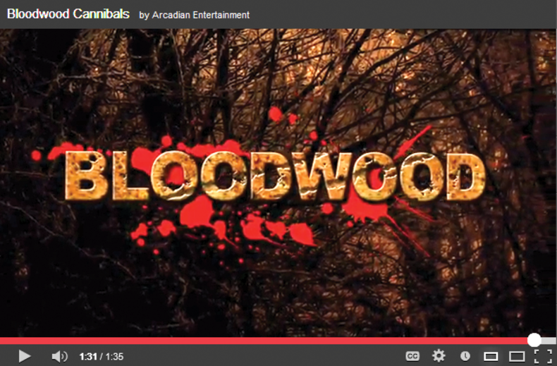 """screen shot of Open page of """"bloodwood Cannibals"""" video"""