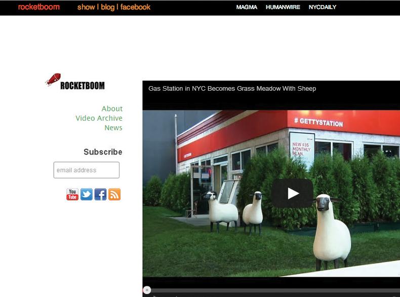 Screen shot of the Rocketboom.com website