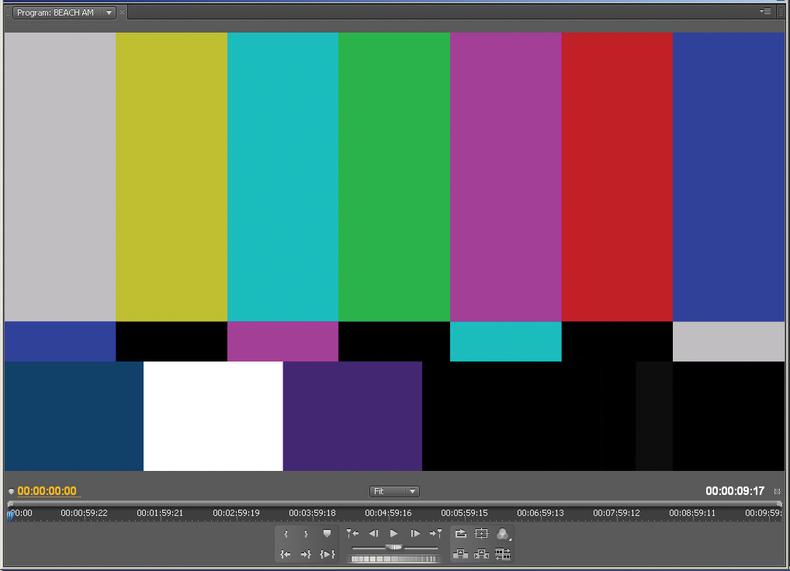 Professional color bars graphic