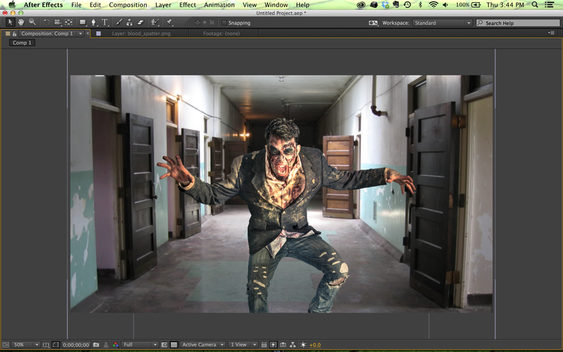 Zombie shot in After Effects