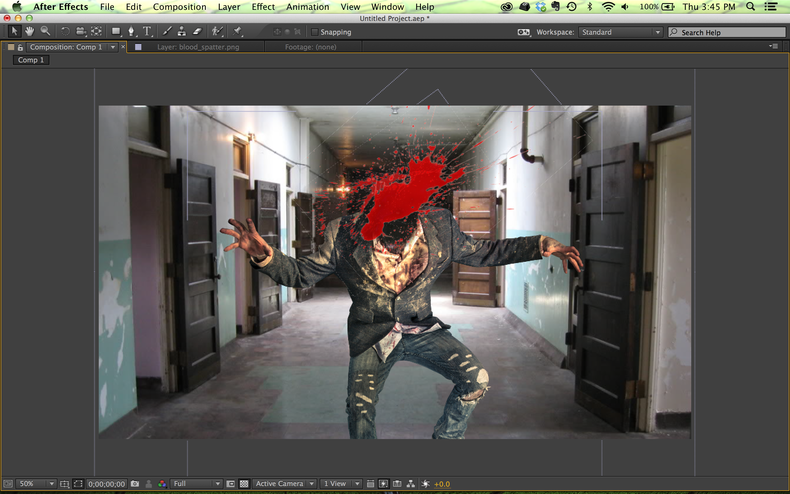 Headless zombie in After Effects