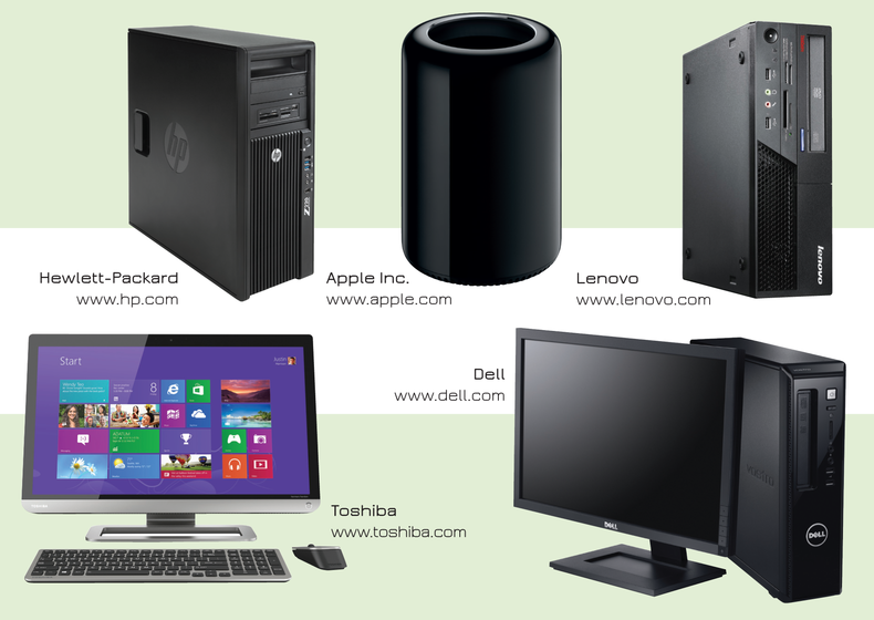 Collection of various laptops: Hewlett Packard, Dell, Lenovo, Asus, Toshiba, Apple, etc.