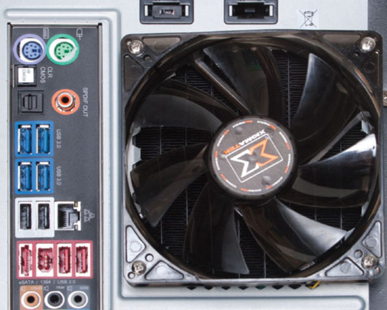 Rear inputs outputs and cooling fan