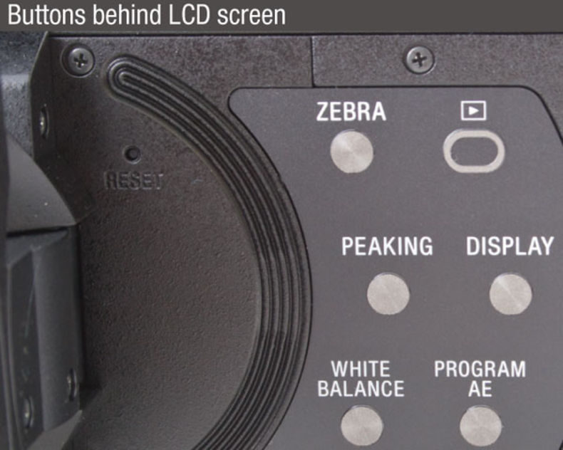 Sony-VG900-camcorder-buttons-behind-LCD-screen