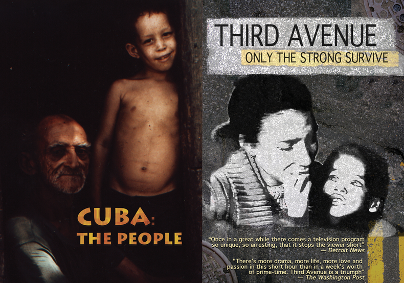 "Posters of documentary, ""Cuba: the People""--© Downtown Community Television Center."