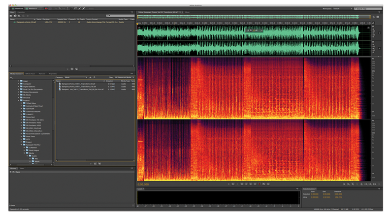 Adobe Audition Creative Cloud spectral analysis