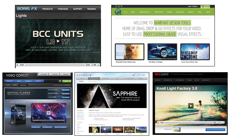 Collection of effects software
