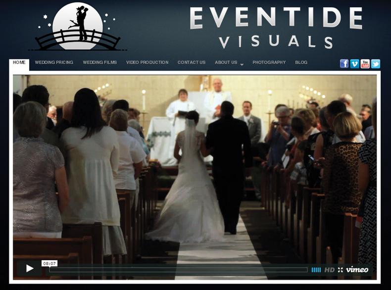 "Shot of Wedding producer Paul Hildebrant's ""Eventide Visuals"" website."