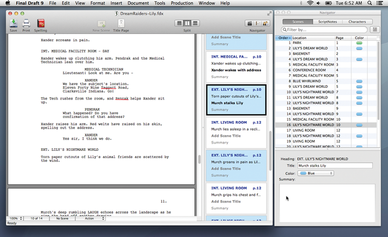 Image of a script on a computer monitor